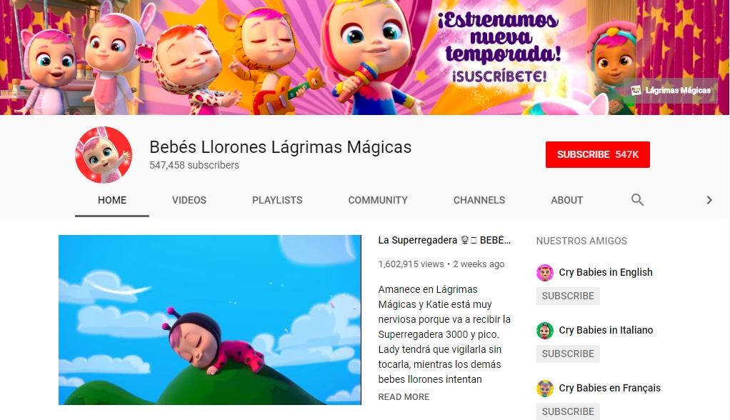 Canal de YouTube de los Bebés Llorones