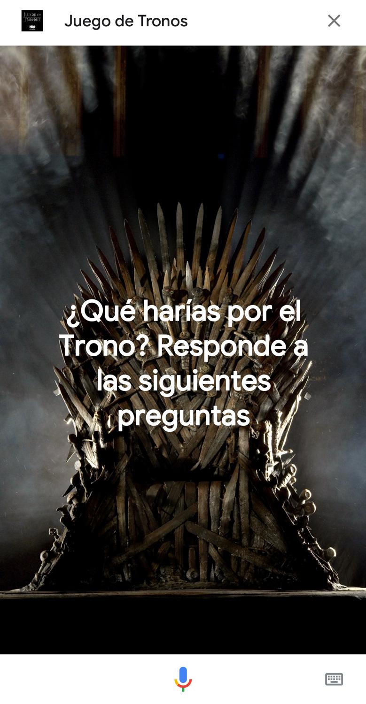 """Google y HBO España lanzan un concurso de preguntas sobre """"Juego de tronos"""" al que se responde con la voz"""