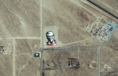 Kentucky Fried Chicken, la primera marca del mundo visible desde el espacio exterior