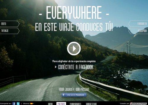 Una campaña online de Bridgestone anima a los usuarios a crear su viaje ideal vía Facebook