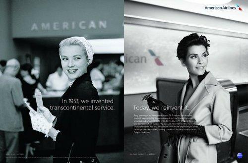 American Airlines recuerda a sus más ilustres pasajeros en una nostálgica campaña