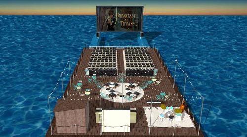 Seagram s gin monta un cine flotante en el puerto deportivo de alicante noticia gran consumo - Cines puerto deportivo getxo ...