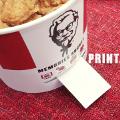 KFC lanza un envase que imprime las fotografías del móvil
